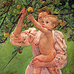 Mary Cassatt - Baby Reaching For An Apple