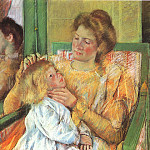 Mary Cassatt - Mother Combing