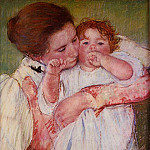 Mary Cassatt - Little Ann Sucking Her Finger Embraced by Her Mother