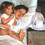 Mary Cassatt - breakfast in bed c1897