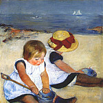 Mary Cassatt - children by the shore 1885