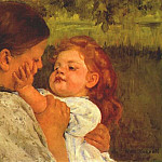 Mary Cassatt - maternal caress 1896