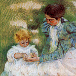 Mary Cassatt - Mother Playing with Her Child