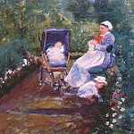 Mary Cassatt - children in a garden (the nurse) 1878
