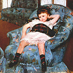 Мэри Кассат - cassatt_little_girl_in_a_blue_armchair_1878