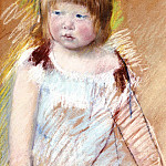 Mary Cassatt - Child with Bangs in a Blue Dress