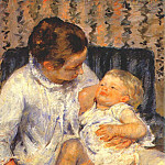 Mary Cassatt - mother about to wash her sleepy child 1880