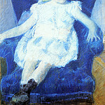 Mary Cassatt - Elsie_in_a_Blue_Chair
