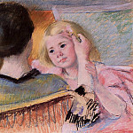 Mary Cassatt - Mother Combing Sara-s Hair