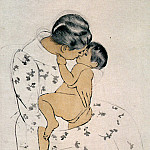 Mary Cassatt - Mothers Kiss 1891
