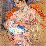 Mary Cassatt - Mother Jeanne Nursing Her Baby