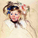 Mary Cassatt - Head of Sara in a Bonnet Looking Left