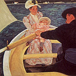 Mary Cassatt - A RIDE IN A ROWING BOAT, 1894, OIL ON CANVAS