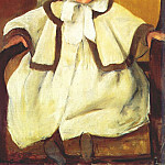 Mary Cassatt - in a white coat c1896