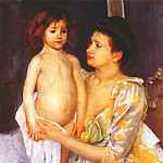 Mary Cassatt - jules being dried by his mother 1900