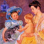 Mary Cassatt - Children Playing with a Cat