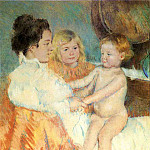 Mary Cassatt - Mother Sara and the Baby counterproof