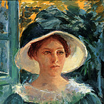 Mary Cassatt - Young Woman In Green Outdoors In The