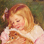 Mary Cassatt - Sara Holding A Cat