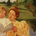 Mary Cassatt - The Garden Reading