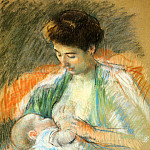 Mary Cassatt - Mother Rose Nursing Her Child