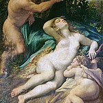 Correggio (Antonio Allegri) - Venus, Satyr and Cupid