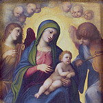 Francois Clouet - Madonna and Child and child in Glory