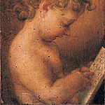 Titian (Tiziano Vecellio) - Little Putto Praying or Young Boy Reading