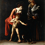 Michelangelo Merisi da Caravaggio - Madonna and Child with St. Anne