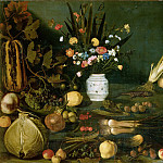 Still Life with Flowers, vegetables and Fruit