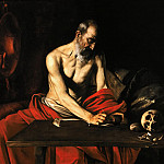 Saint Jerome Writing, Michelangelo Merisi da Caravaggio