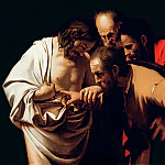 Incredulity of Saint Thomas, Michelangelo Merisi da Caravaggio