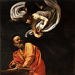 Saint Matthew and the Angel, Michelangelo Merisi da Caravaggio