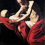 Saint Jerome in Meditation, Michelangelo Merisi da Caravaggio