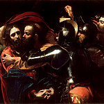 Taking of Christ , Michelangelo Merisi da Caravaggio