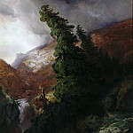 Friedrich Gauermann - Mountain canyon in Handegg valley in the canton of Bern