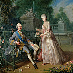 Louis Jean Marie de Bourbon, Duc de Penthievre with his daughter Louise-Marie Adelaide, De Schryver Louis Marie