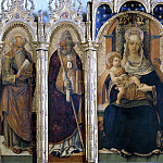 Lorenzo d'Alessandro - Madonna and Child and Four Saints