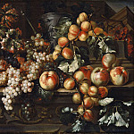 Carlo Dolci - Still Life with Apples and Grapes [Attributed]