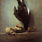 Still Life with Pheasant and Hunting Bag, Jean Baptiste Siméon Chardin