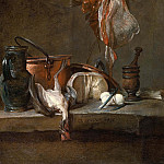 Still Life with Ray and Basket of Onions, Jean Baptiste Siméon Chardin