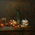 Still Life with Jar of Olives, Jean Baptiste Siméon Chardin