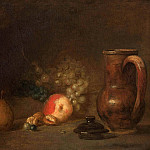 Still life with fruits and pottery jar