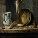 Still Life with Herrings, Jean Baptiste Siméon Chardin