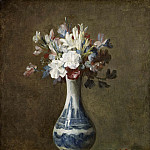 flowers in blue and white vase, Jean Baptiste Siméon Chardin