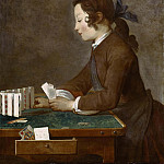 Young Boy Playing Cards, Jean Baptiste Siméon Chardin