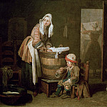 The Laundress, Jean Baptiste Siméon Chardin