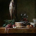 Still Life with Fish and Vegetables on a Table, Jean Baptiste Siméon Chardin