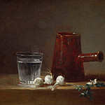 Glass of Water and Coffee Pot, Jean Baptiste Siméon Chardin
