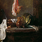 Still Life with a Cut of Meat, Jean Baptiste Siméon Chardin
